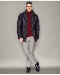 The Fur Vault - Shearling Zip-front Jacket - Lyst