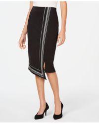 Alfani - Asymmetrical-hem Midi Skirt, Created For Macy's - Lyst