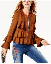 INC International Concepts - Petite Tiered Ruffled Jacket - Lyst