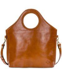 7357fc5b68d7 Michael Kors Cori Small Heritage Signature Trunk Bag - Lyst