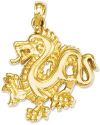 Macy's - 14k Gold Charm, Small Dragon Charm - Lyst