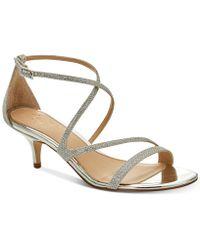 Badgley Mischka - Gal Strappy Evening Sandals - Lyst