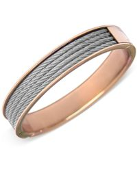 Charriol - Womens Two-tone Cable Bangle Bracelet - Lyst