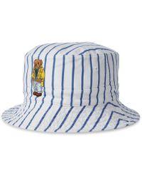 dea88125c40 Polo Ralph Lauren - Reversible Crested Polo Bear Bucket Hat - Lyst