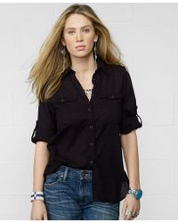 Denim & Supply Ralph Lauren - Roll-tab-sleeve Utility Shirt - Lyst