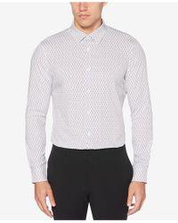 Perry Ellis - Slim-fit Zig-zag Print Shirt - Lyst