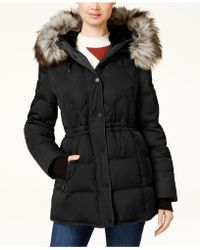 BCBGeneration - Faux-fur-trimmed Hooded Puffer Coat - Lyst
