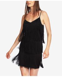1.STATE - Tiered Fringe Slip Dress - Lyst