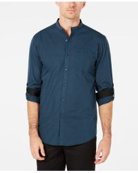 INC International Concepts - Band-collar Utility Shirt, Created For Macy's - Lyst