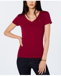 Tommy Hilfiger - Cotton V-neck Flag T-shirt, Created For Macy's - Lyst