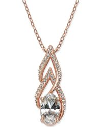 Danori - Rose Gold-tone Crystal & Pavé Statement Necklace - Lyst