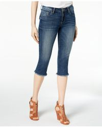 Kut From The Kloth - Petite Natalie Cropped Frayed-hem Jeans, Created For Macy's - Lyst