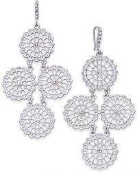INC International Concepts - Silver-tone Crystal Circle Chandelier Earrings, Created For Macy's - Lyst