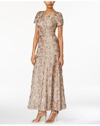 Alex Evenings - A-line Rosette Dress - Lyst