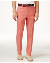 Lauren by Ralph Lauren - Solid Linen Dress Pants - Lyst