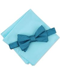 Alfani - Neat To-tie Bow Tie & Solid Pocket Square Set, Created For Macy's - Lyst