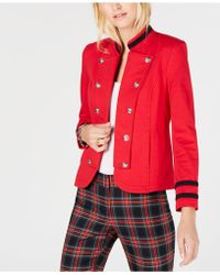 Tommy Hilfiger - French-terry Band Jacket, Created For Macy's - Lyst