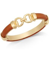 Charter Club - Gold-tone Faux Leather Interlock Bracelet - Lyst