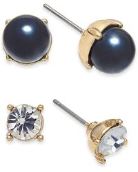 Charter Club - Gold-tone 2-pc. Set Crystal & Colored Imitation Pearl Stud Earrings, Created For Macy's - Lyst