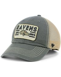 Lyst - 47 Brand Women s Baltimore Ravens Clean Up Cap in Gray 6d554b89a