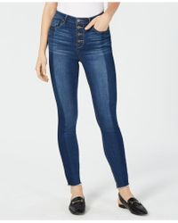 Maison Jules - Fitted Button-fly Ankle Jeans, Created For Macy's - Lyst