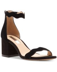 INC International Concepts - Hadwin Scallop Block-heel Sandals - Lyst
