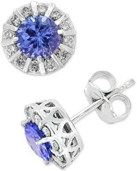 Effy Collection - Amoré By Effy® Ruby (1-1/8 Ct. T.w.) & Diamond (1/3 Ct. T.w.) Stud Earrings In 14k White Gold - Lyst