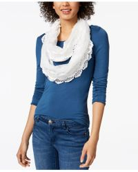 INC International Concepts   I.n.c. Floral Lace Infinity Scarf, Created For Macy's   Lyst