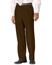 Lauren by Ralph Lauren - Big And Tall 100% Wool Double-reverse Pleated Dress Pants - Lyst