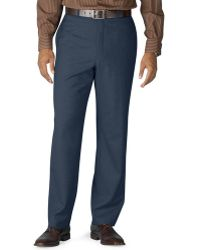 Lauren by Ralph Lauren - Big And Tall Wool Flat-front Dress Pants - Lyst