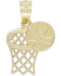Macy's - Basketball And Hoop Charm In 14k Gold - Lyst