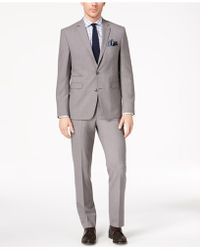 Vince Camuto - Slim-fit Stretch Gray Solid Suit - Lyst