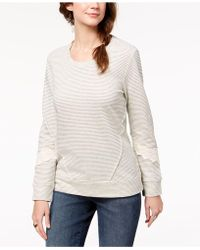Style & Co. - Crochet-trim Sweatshirt, Created For Macy's - Lyst
