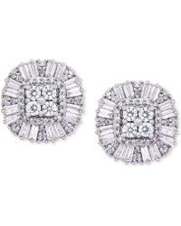 Wrapped in Love - Diamond Cluster Stud Earrings (1 Ct. T.w.) In 14k Gold - Lyst