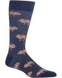 Hot Sox - Hippo Crew Socks - Lyst