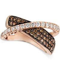 Le Vian - Diamond Chocolate Diamond Crossover (1-1/8 Ct. T.w.) In 14k Rose Gold - Lyst