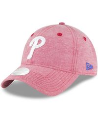 256bb85547b ... discount ktz philadelphia phillies team linen 9twenty strapback cap lyst  69949 045dc
