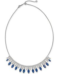 """Danori - Silver-tone Stone & Crystal Marquise Statement Necklace, 15"""" + 3"""" Extender, Created For Macy's - Lyst"""