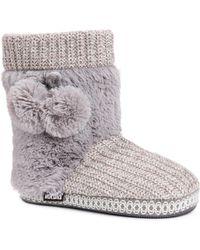 Muk Luks - Coralee Boot Slippers - Lyst