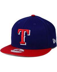 on sale 9264f 289c4 KTZ - Texas Rangers 2 Tone Link 9fifty Snapback Cap - Lyst
