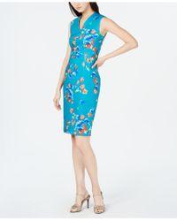Calvin Klein V-neck Floral Sheath Dress