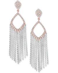 Effy Collection - Effy® Diamond Fringe Drop Earrings (1/2 Ct. T.w.) In 14k White & Rose Gold - Lyst