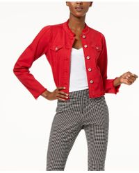 INC International Concepts - I.n.c. International Concepts Puffed-shoulder Cropped Denim Jacket, Created For Macy's - Lyst