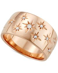 Marchesa - Diamond Star Band (1/6 Ct. T.w.) In 18k White Gold, Gold Or Rose Gold - Lyst