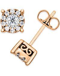 Macy's - Diamond Halo Stud Earrings (1/3 Ct. T.w.) In 14k White Gold - Lyst