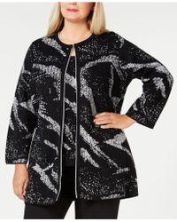 Kasper - Plus Size Metallic Sweater Topper - Lyst