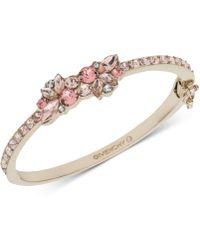 Givenchy - Gold-tone Crystal Bangle Bracelet - Lyst
