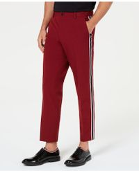 INC International Concepts - Slim-fit Cropped Side-stripe Trousers, Created For Macy's - Lyst