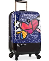 """Heys - Britto Heart With Wings 30"""" Expandable Hardside Spinner Suitcase - Lyst"""
