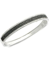 Effy Collection - Caviar By Effy Black (2-3/4 Ct. T.w.) And White (1-7/8 Ct. T.w.) Diamond Bangle In 14k White Gold - Lyst